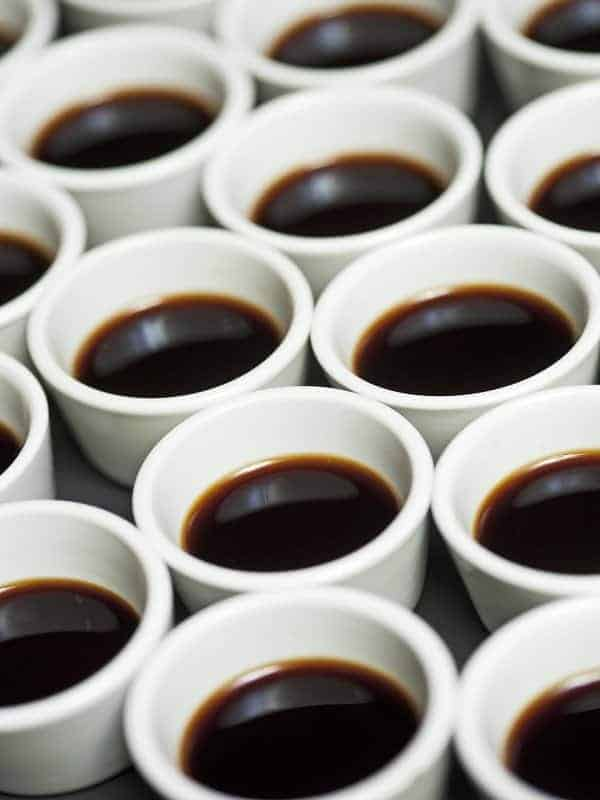 Coffee cups waiting to be served by Edinburgh catering company