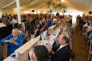Wedding catering in a marquee