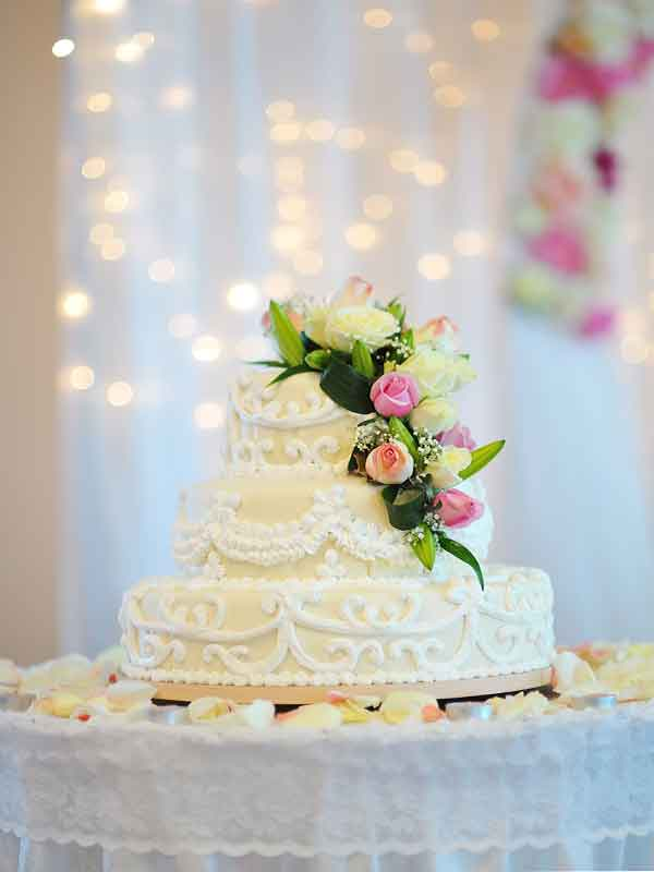 wedding cake supplied for wedding in East Lothian