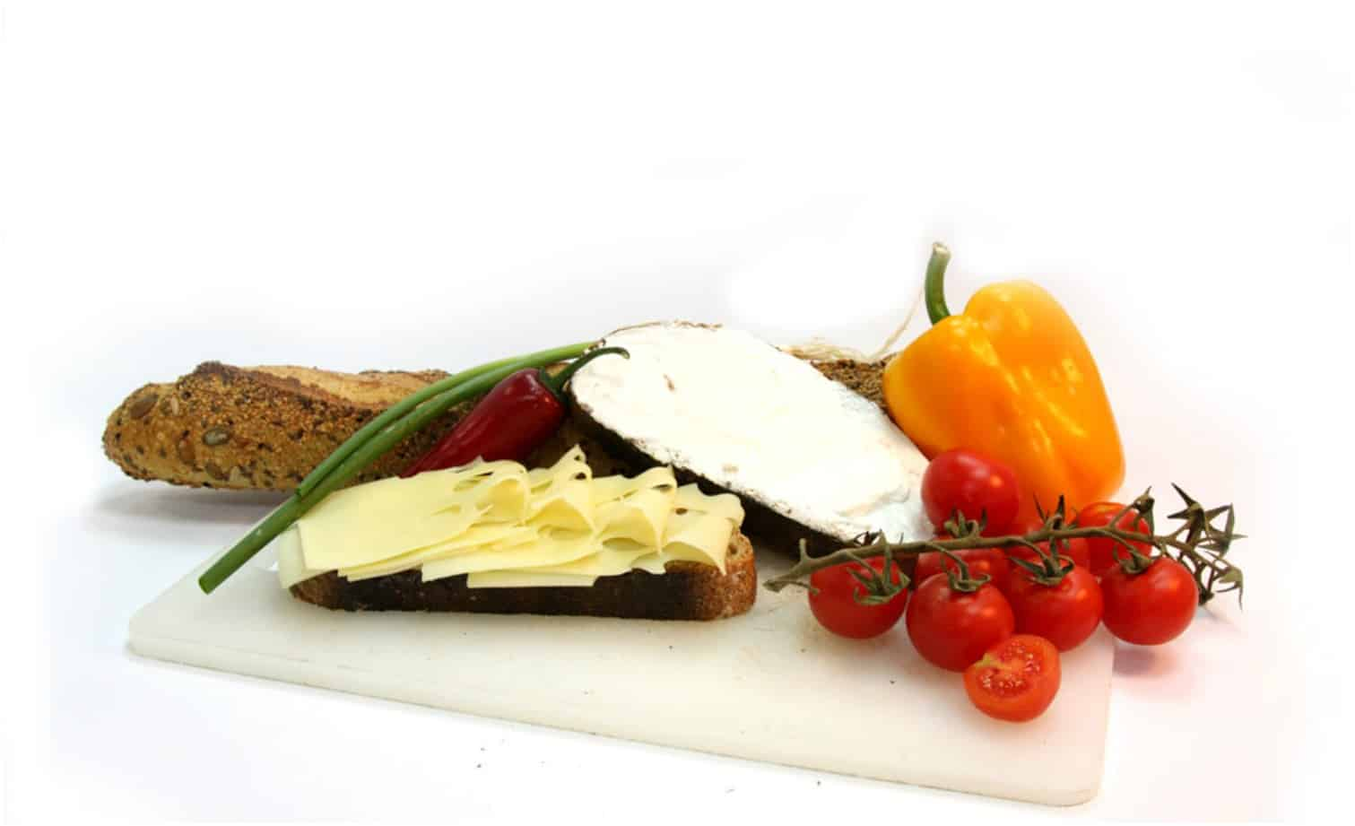 Cheese and vegetables from menu of caterer East Lothian